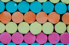 Colorful chalk . Royalty Free Stock Photography