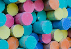Colorful chalk . Royalty Free Stock Images