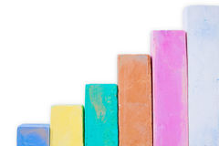 Colorful chalk on a white background. Stock Photography