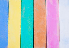 Colorful chalk on a white background. Stock Image