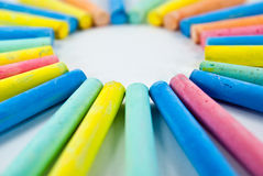 Colorful chalks Royalty Free Stock Image