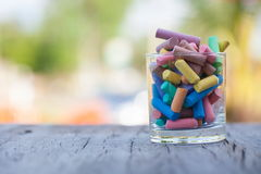 Colorful chalks Stock Images