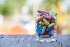 Colorful chalks Stock Photos