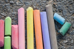 Colorful chalks Royalty Free Stock Photo
