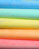 Colorful chalks background Stock Images