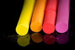 Colorful chalks Stock Image