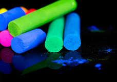 Colorful chalks Royalty Free Stock Photography