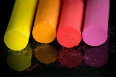 Colorful chalks Royalty Free Stock Photos
