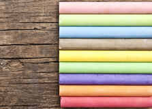Colorful chalks Stock Photography