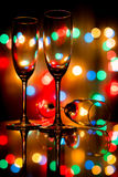 Colorful Champagne Stock Photography