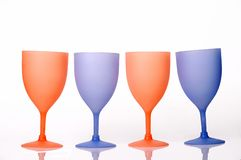Colorful champagne glasses Stock Photography