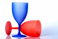 Colorful champagne glasses Royalty Free Stock Images