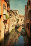 Colorful  Chanel In Venice Stock Images