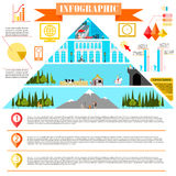 Colorful change of eras infographics development Royalty Free Stock Photos