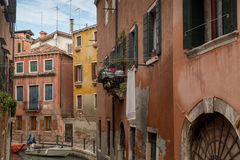 Colorful Channels Of Venice, Italy Stock Photography