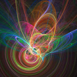 Colorful  chaos rings. Abstract colorful chaos rings on dark background Royalty Free Stock Photo