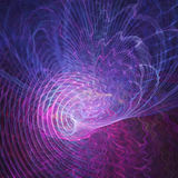 Colorful  chaos waves. Abstract colorful chaos waves on dark background Stock Photos
