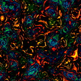 Colorful Chaotic Waves Pattern. Abstract Background for Design Artworks. Red Blue Yellow Green on Black. Psychedelic Blobs. Stock Photography