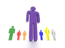 Colorful Characters Royalty Free Stock Images