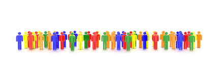 Colorful Characters Stock Photo