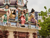 colorful characters, Sri Maariamman temple,   Singapore Stock Photography