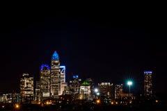 Colorful Charlotte, North Carolina Skyline Royalty Free Stock Photography