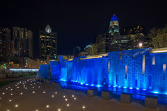 Colorful Charlotte Skyline 10 Stock Photography
