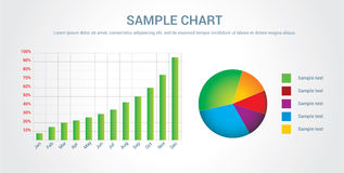 Colorful chart/infographic Royalty Free Stock Photos