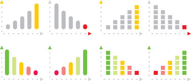 Colorful charts vector illustration