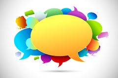Colorful Chat Bubble Stock Photography