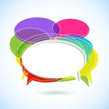 Colorful Chat Bubble Stock Image