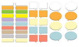 Colorful Chat Bubble Box. Colorful chat box  for variety use Royalty Free Stock Images