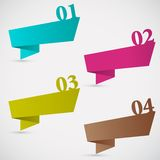 Colorful Chat Bubble for Differnt Option Royalty Free Stock Photography