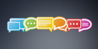 Colorful chat bubbles 3D rendering. Colorful chat bubbles on grey background 3D rendering Royalty Free Stock Photography