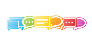 Colorful chat bubbles 3D rendering Stock Image