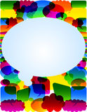 Colorful chat card Royalty Free Stock Photos