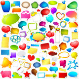 Colorful Chat and Speech bubble jumbo collection Stock Images