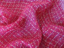 Colorful checked fabric Stock Photography