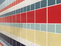 Colorful checked pattern of bathroom tiles Royalty Free Stock Photos