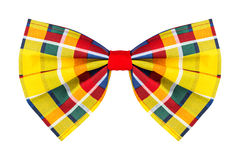 Colorful checkered bow tie Royalty Free Stock Photos