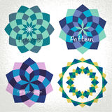 Colorful checkered circle frame background Stock Images