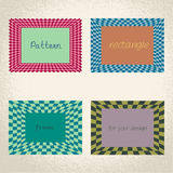 Colorful checkered rectangle frame background Royalty Free Stock Photos
