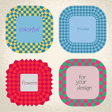 Colorful checkered rectangle frame background Royalty Free Stock Photo