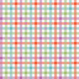 Colorful checkered tablecloths pattern Stock Image