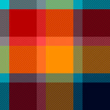 Colorful checkered tartan fabric seamless pattern, vector Royalty Free Stock Photo