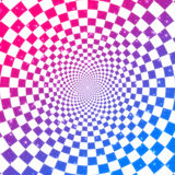 Colorful checkered texture. Abstract colorful checkered background with perspective effect Stock Photography
