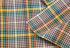 Colorful checkered texture background. Fabric Stock Photo