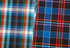 Colorful checkered texture background. Fabric Royalty Free Stock Images