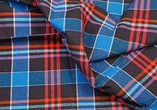 Colorful checkered texture background. Textile texture Stock Photos