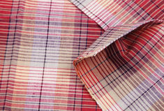 Colorful checkered texture background. Textile texture Royalty Free Stock Photos